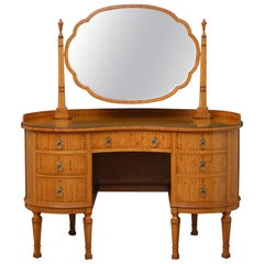 Shapland and Petter Satinwood Dressing Table with a Matching Chair
