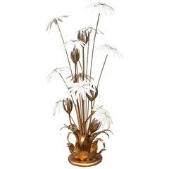 Hollywood Regency Flower Floor Lamp, 1970