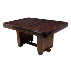 Art Deco Dining Table in Macassar Ebony