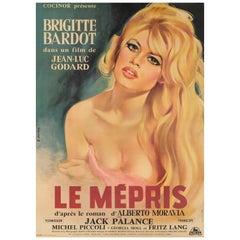 'Le Mepris / Contempt' Original French Movie Poster