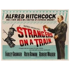 'Strangers on a Train' Original British Movie Poster