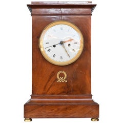 French Empire Mahogany Mantel Clock