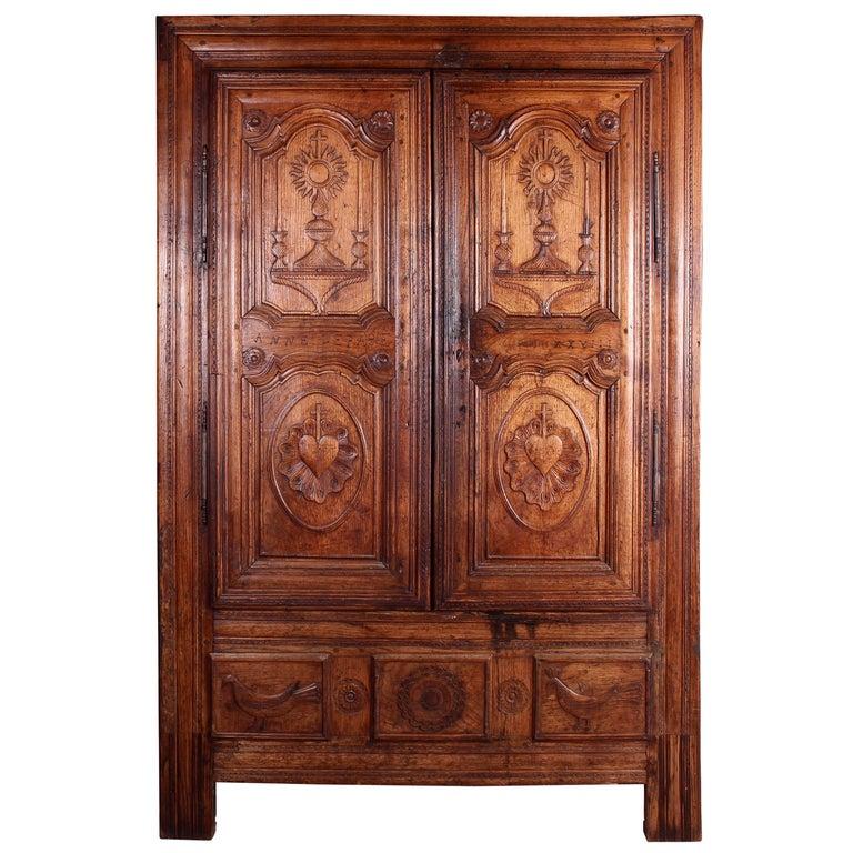 Eighteenth Century French Oak Breton Wardrobe or Cupboard