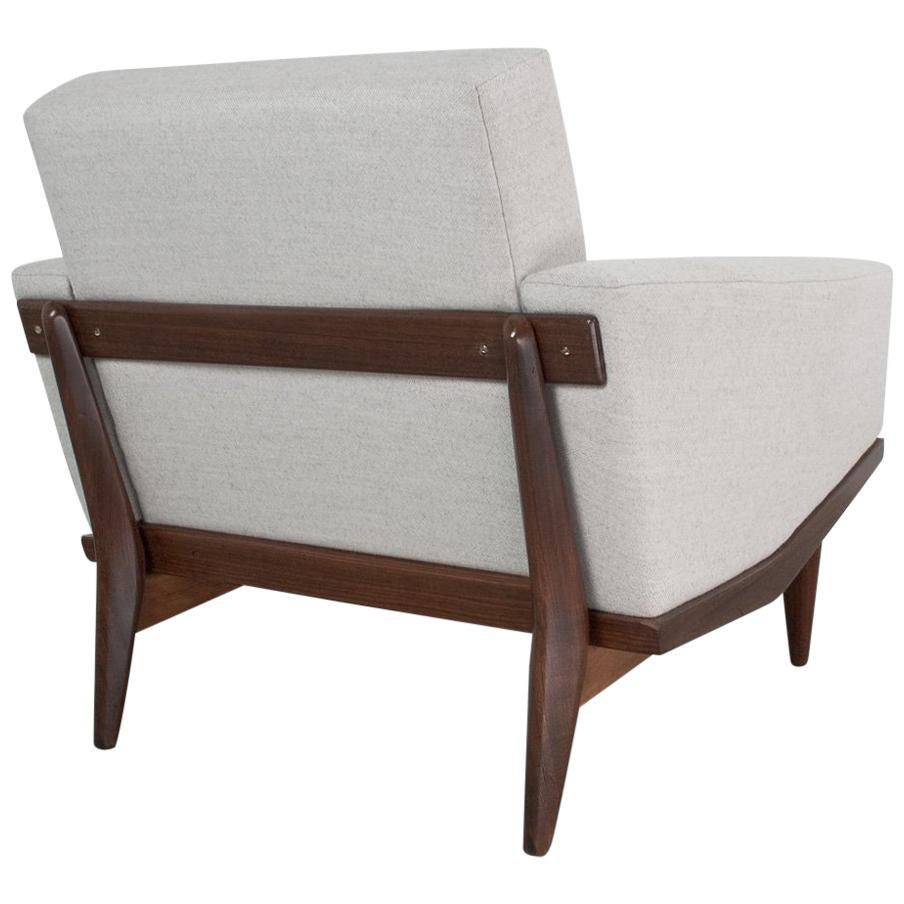 Skandinavische Moderne Sessel Aus Teakholz Von Illum Wikkelso, 1962  Dänisches Design 1