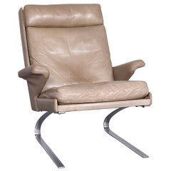 COR Swing Designer Leather Armchair Crème One-Seat Chair