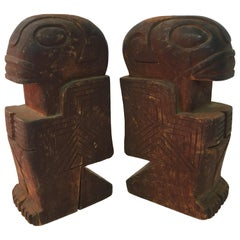 Carved Wood African Tribal Fetish Figures