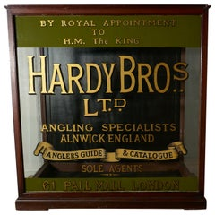 Very Large Hardy Bros Ltd, Fishing Tackle Display Case