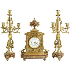 Clock Set, 19th Century, Lemerle Charpentier