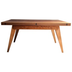 French Vintage Modular Table, Vintage Foldable Table Albert Ducrot