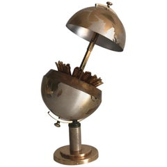 German Vintage Brass Globe Cigarette Dispenser, 1950s