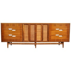 American of Martinsville Accord Walnut Triple Dresser