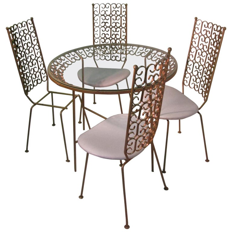 Arthur Umanoff Mid-Century Modern Granada Dining Table with Four Chairs