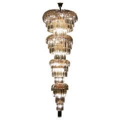 Art Deco Style Multi Layered Swarofski Crystal Chandelier Extra Large, Stunning