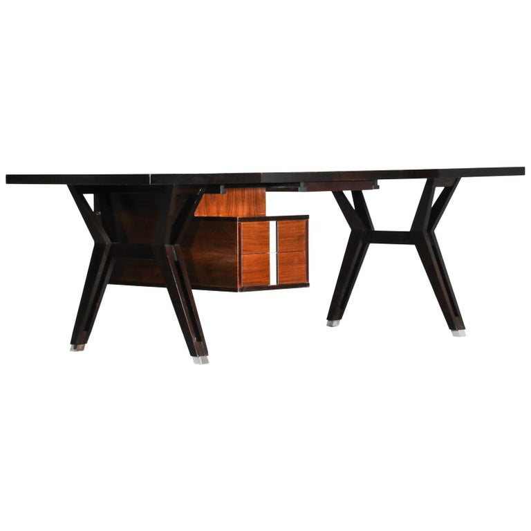 Large Ico Parisi Desk for MIM, Italian Design