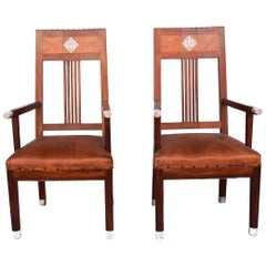 1930s Pair of Art déco Rosewood Armchair