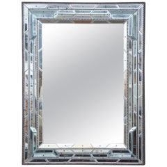 Blue Tinted Pieced Venetian Mirror