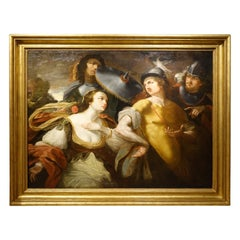 """Painting Representing """"Alexander the Great and Timoclea"""", France, 17th Century"""