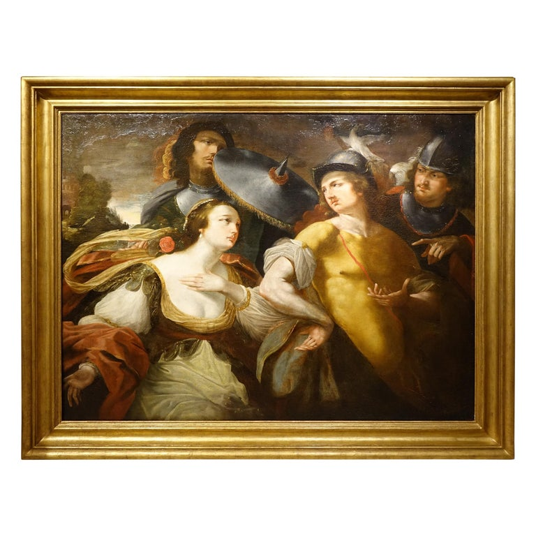 "Painting Representing ""Alexander the Great and Timoclea"", France, 17th Century For Sale"