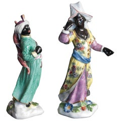 Two Meissen Blackamoor Figures, circa 1748
