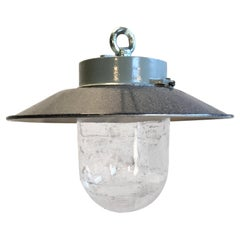 Vintage Factory Hanging Lamp, 1970s