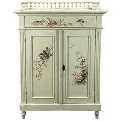Antique Belle Époque Painted Cabinet
