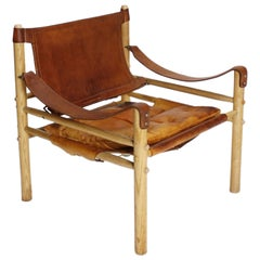 Vintage Swedish Safari Armchair Sirocco by Arne Norell
