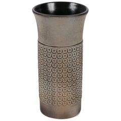 """Mari Simmulson """"Etna"""" #4535 Stoneware Vase for Upsula Ekby, Sweden 1960s"""