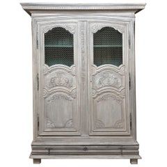 Early 18th Century Country French Armoire, Bookcase
