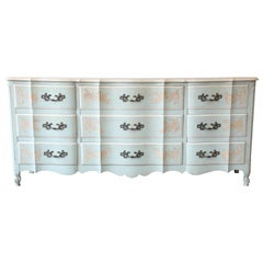 John Widdicomb French Provincial Louis XV Style Triple Dresser