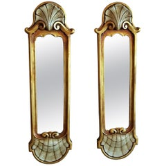 Early 20th Century Pair of Pier Mirrors by Thorvald Strom