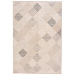 Modern Moroccan Style Flat-Weave Rug