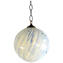 Murano Controlled Bubble Hanging Globe Shade Chandelier Fixture