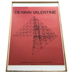 De Wain Valentine Los Angeles County Museum of Art Poster Print, 1979