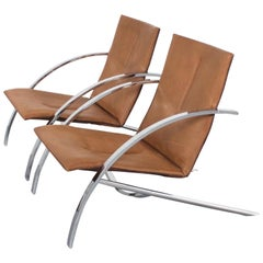 Set of Paul Tuttle 'Arco' Lounge Chairs for Strässle, Switzerland, 1970s