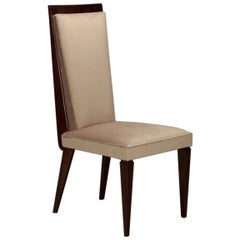 Set of 8 Art Deco French Dining Chairs in Beechwood