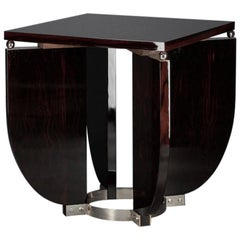 Pair of Art Deco French Side Tables in Macassar