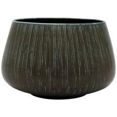 Saxbo Stoneware Bowl by Eva Staehr Nielsen, Denmark, 1950s