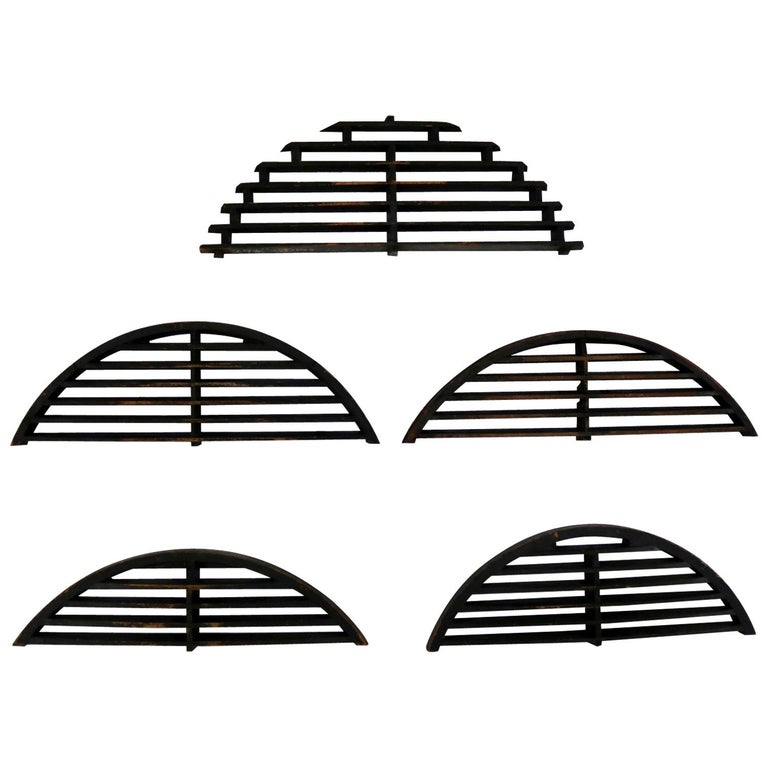 Antique Industrial Arched Foundry Patterns for Molds Handmade Wood, Group 3