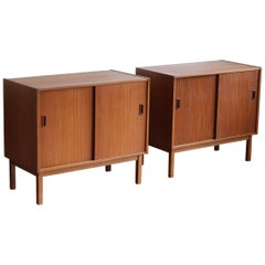 Pair of Small Danish Modern Teak Cabinets