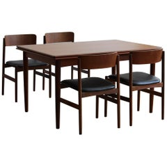 Danish Mid-Century Modern Expanding Dining Set by Rosenstrup