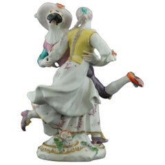Harlequin and Columbine Dancing, Chelsea, circa 1755