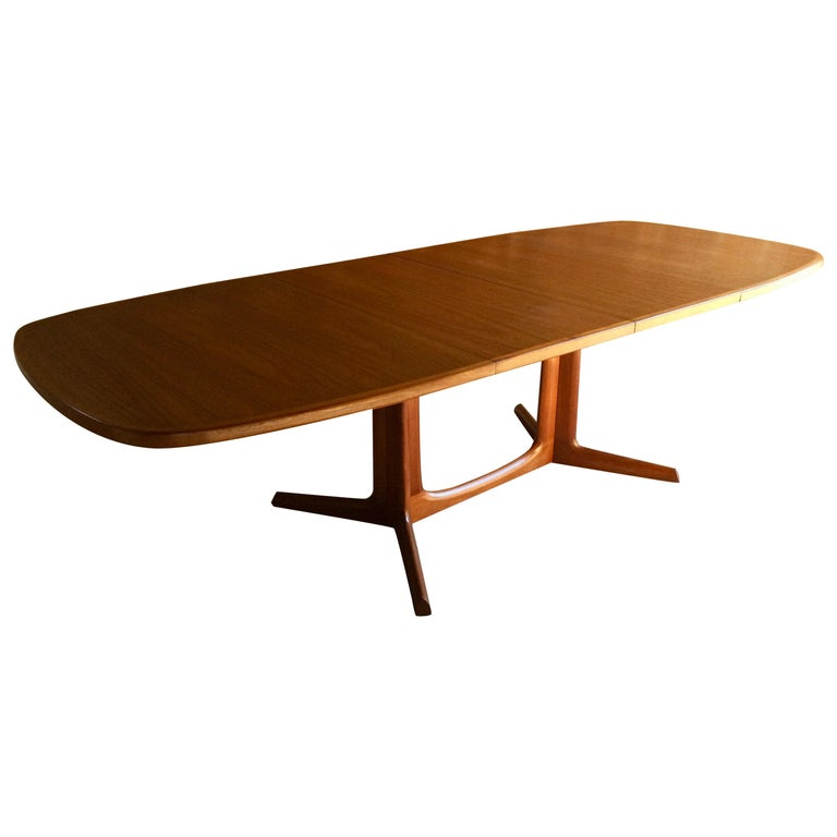 Danish Solid Teak Dining Table By Niels Otto Moller For Gudme - Solid teak dining table for sale