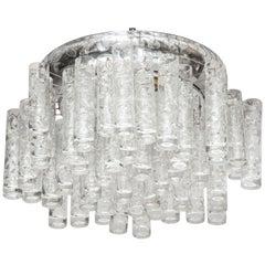 Doria Glass Tube Flushmount