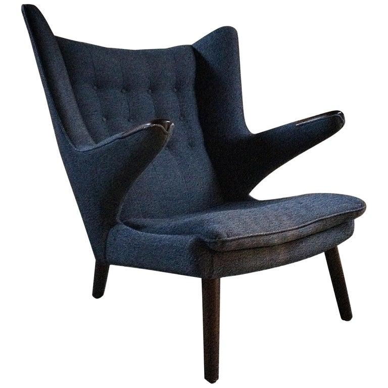 Midcentury Papa Bear Lounge Chair by Hans J Wegner for AP Stolen Danish, 1960s