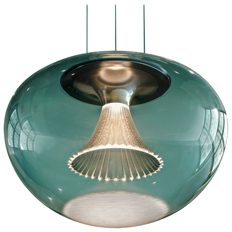 Ipno Dimmable Glass Pendant in Clear by Michele De Lucchi