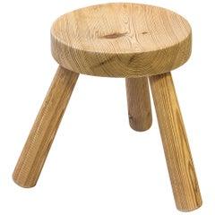 Pine stool by Ingvar Hildingsson, Sweden, 1940s