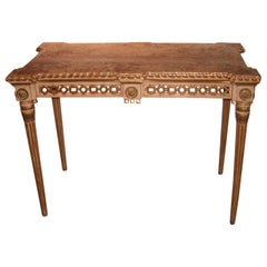 Neoclassical Giltwood Spanish Centre Table