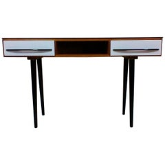 Writing Desk Designed by Architect M. Požár, Retro Style Brusel 1960s