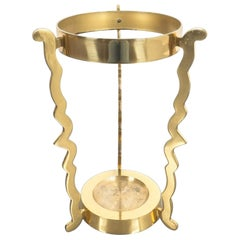 Midcentury Umbrella Stand From Solid Brass