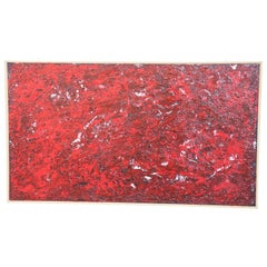 """Mixed Technique Painting on Board Title """"Deep Red"""", 2017"""